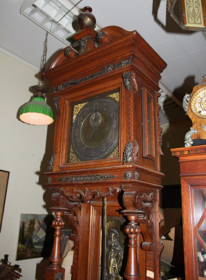 Ansonia, Grandfather, floor clock, Museum Quality, Circa 1914, Running well.