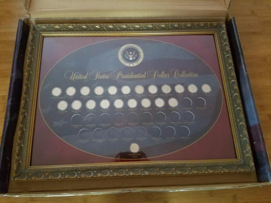 United States Presidential Dollar Proof Set Framed Collection