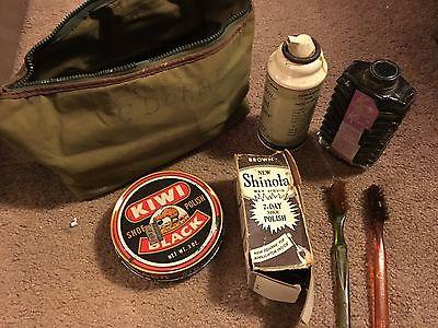 Military Surplus Shoe Shining Kit Army,Navy,Air Force WW II Vintage
