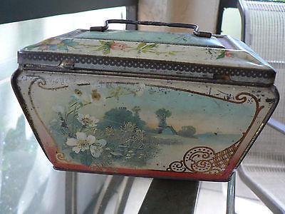 antique metal box origin France