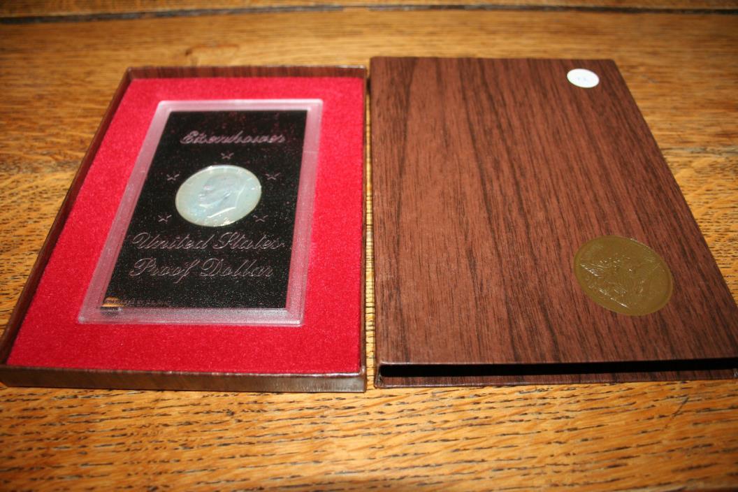 1972,US Coin,Brown Ike,40% Silver Eisenhower Dollar,Dollar,Silver,Free Shipping!