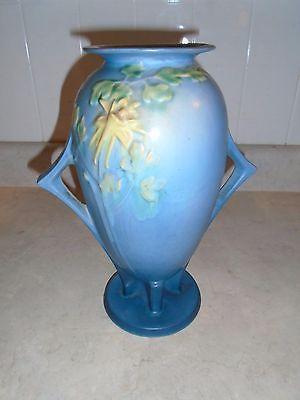 Vintage Large Blue Roseville Vase #25-12