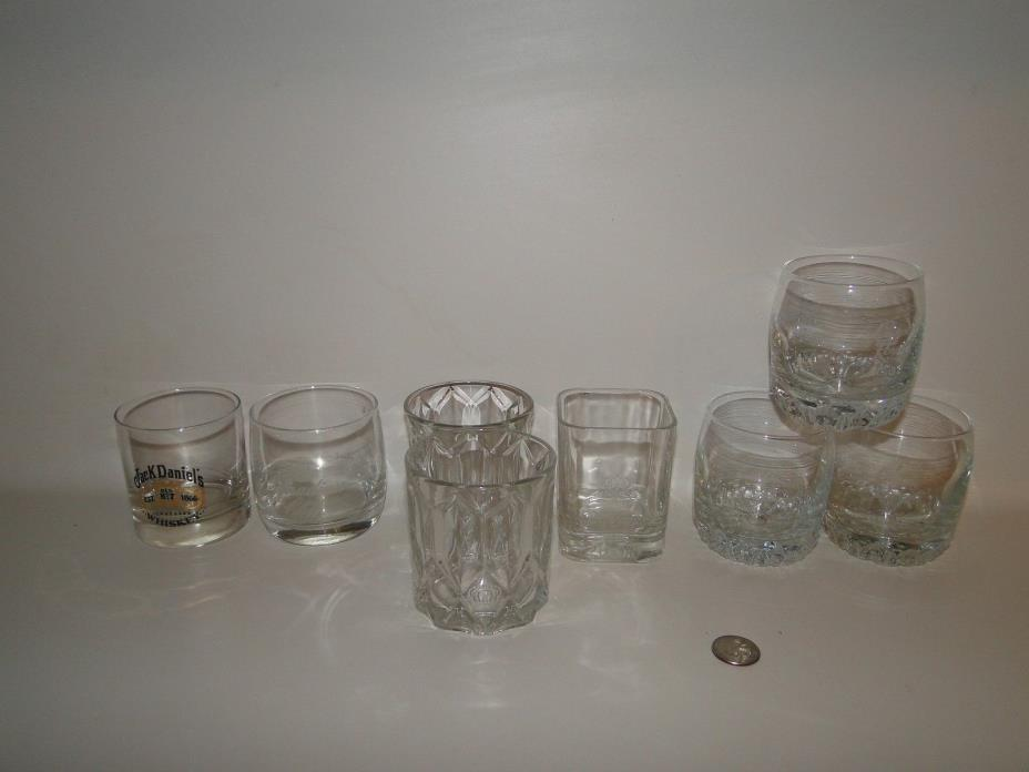 Crown Royal Crystal Glasses Lot of 6 Tumbler Whiskey Whisky & 1 Canadian Club