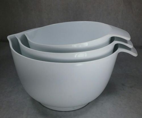 Martha Stewart Everyday Living 3 Mixing Bowls Anti Slip W/ Spout Tab Handle