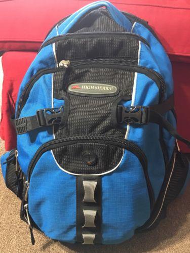 High Sierra Riprap Lifestyle Backpack Suspension Strap System Purple Laptop Bag