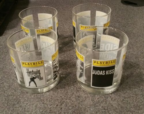 Lot of 4 Playbill souvenir cup movies poster