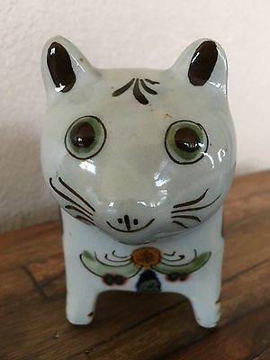Ken Edwards Initialed Tonala El Palomar Standing Cat Porcelain - Mexico 8