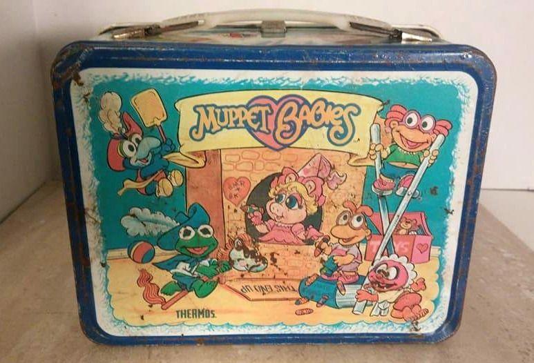 Vintage 1985 Muppet Babies Metal Lunchbox Jim Henson