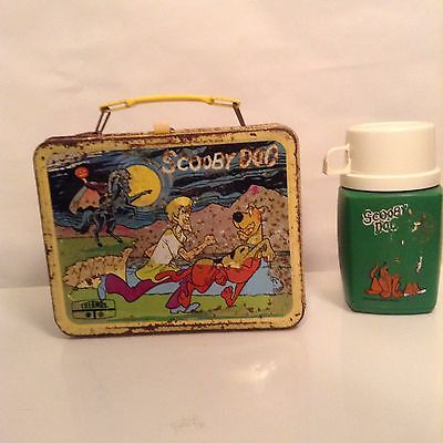 SCOOBY DOO VINTAGE METAL LUNCH BOX WITH THERMOS