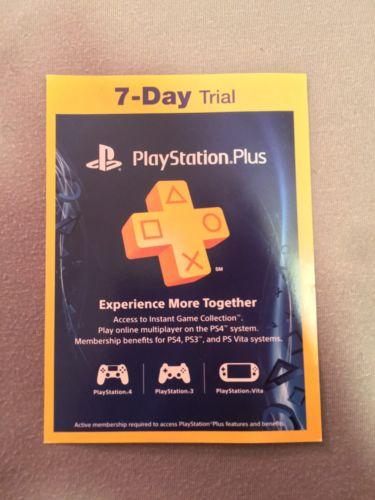 PlayStation Plus 7-Day trial
