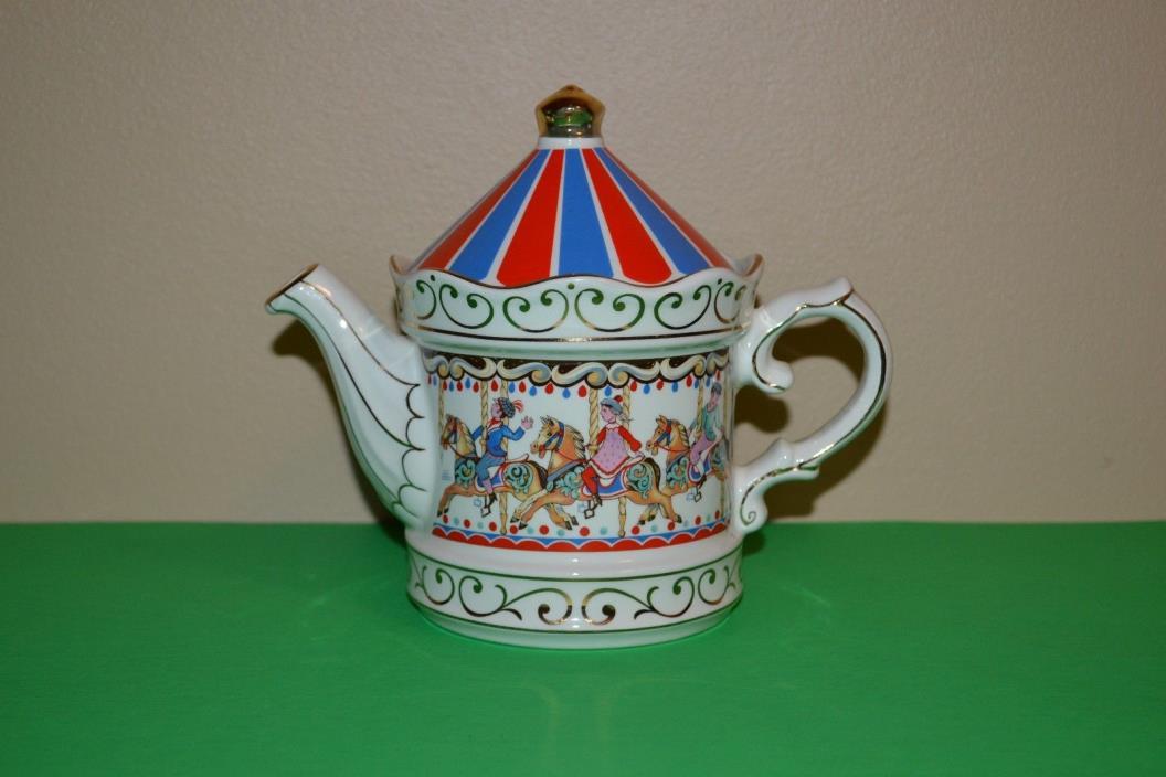 Vtg Sadler Teapot Carousel Edwardian Entertainment Staffordshire England