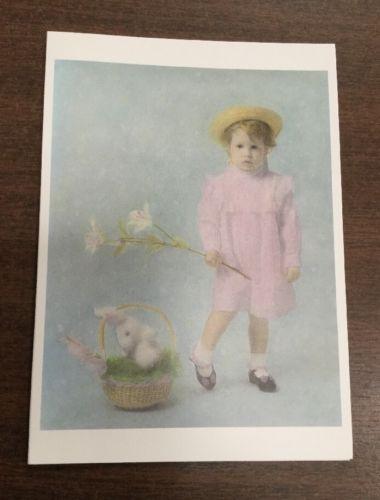 Easter Girl Card-Set Of 12 With Envelopes-Blank Inside