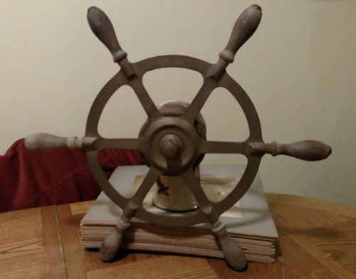 Antique Brass Lobster Boat SteeringWheel/ Helm
