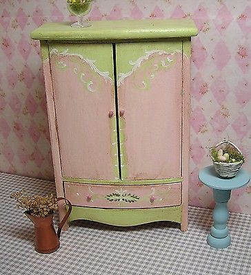 Miniature Dollhouse Furniture Biz Armoire hand painted