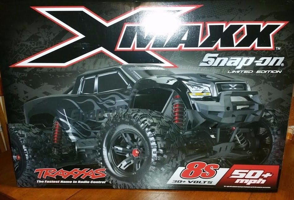 TRAXXAS XMAXX RC TRUCK SNAP ON LIMITED EDITION BLACK 1/5 SCALE