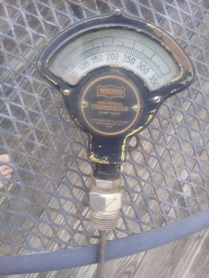Vintage MOTOCO Motometer Industrial Thermometer Steampunk RatRodlivesteam engine