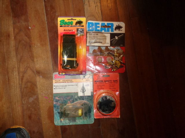 Vintage Achery Fred Bear Recurve Bow Hunting Items Collectible Lot Various