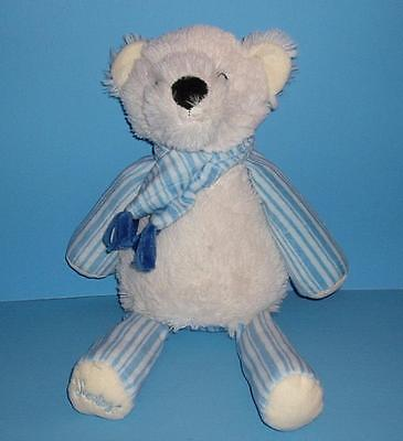 Adorable Blue n White POOKI Polar Bear Stripes Scarf Scentsy Buddy Plush Stuffed