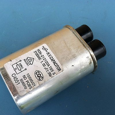 ELCOMTEC Microwave Oven High Voltage Capacitor 2100VAC 1.00mF , 35
