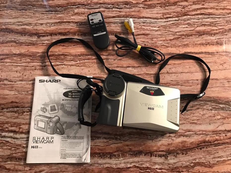 Sharp Viewcam Camcorder Hi 8 VL-AH50U VL_AH60U