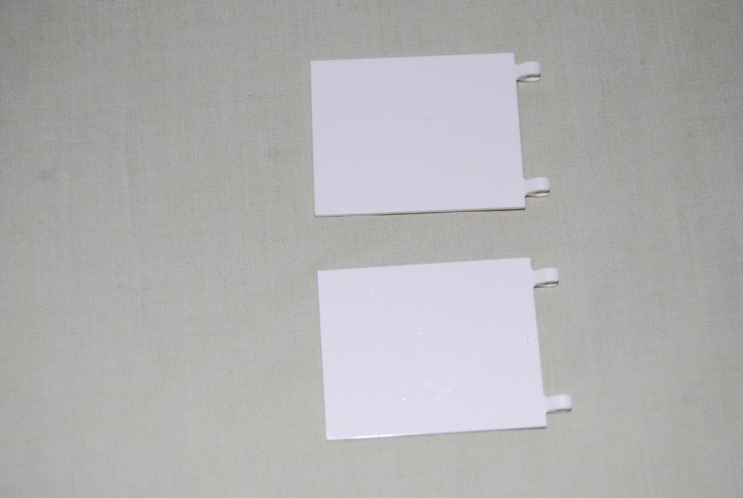 Lego Lot of 2 White Flags 2525 GUC W/ Clip 7751 7868 8093 8638