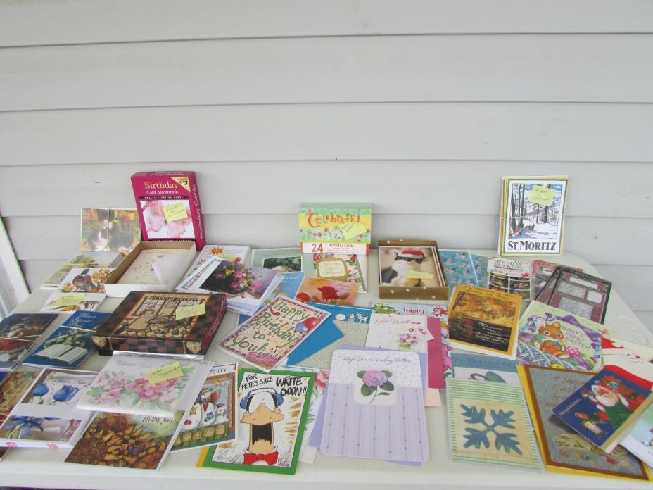 GREETING CARDS~LOT OF 200+ HALLMARK~ AMERICAN GREETINGS~CURRENT ~Post Cards