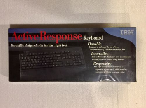 NEW SEALED    IBM 09N5544 ACTIVE RESPONSE KEYBOARD WIRED PS/2 PC-AT MICROSOFT PC
