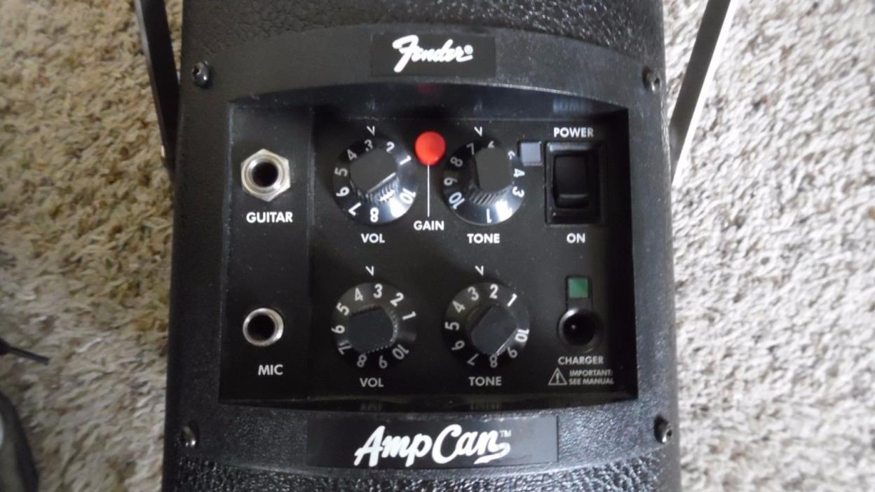 Fender PR522 Amp Can 98 Black Battery Charged Portable Amp