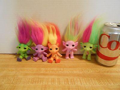 moose troll toy, 5 dolls lot