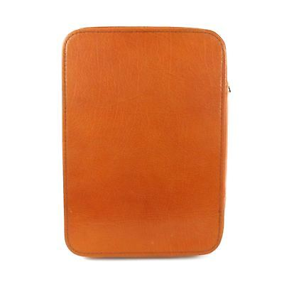 Vintage Leather Zippered Book Bible Cover Case 9.5 x 6.5