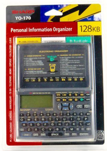 Sharp YO-170 Personal Information Organizer, New & Factory Sealed, **Free Ship**
