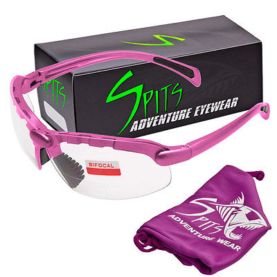 Spits C2 Pink  Bifocal Safety Glasses - Clear 4.00 - ANSI Z87.1+ Compliant