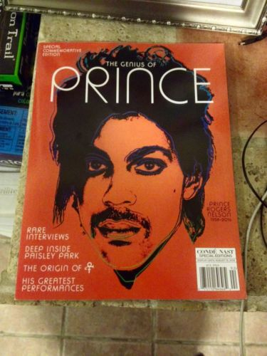 2016 GENIUS OF PRINCE CONDE' NAST MAGAZINE ANDY WARHOL COVER PURPLE RAIN 1999