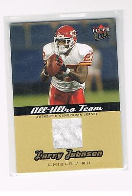 LARRY JOHNSON 2005 FLEER ULTRA ALL ULTRA TEAM JERSEY NFL KC CHIEFS