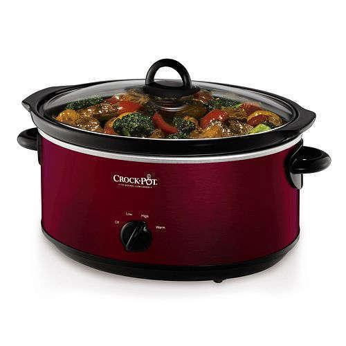 Crock pot 7 Quart Red