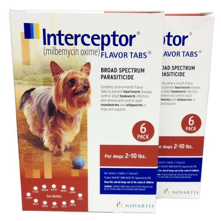 Interceptor Flavor Tablets 2-10 (6 pack) NEW IN BOX