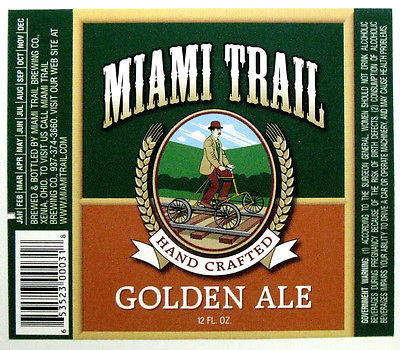 Miami Trail Brewing GOLDEN ALE beer label OH 12 oz