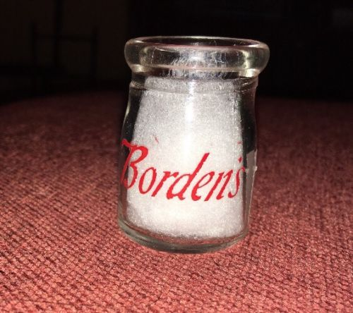 Vintage Early Glass Dairy Creamer Single Sided Bordens