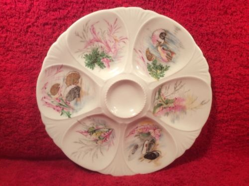 Antique French Limoges Oyster Plate, op284