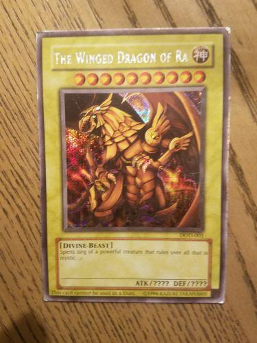 The Winged Dragon of Ra - DOD-001 - Secret Rare PL Video Game Yugioh Promo