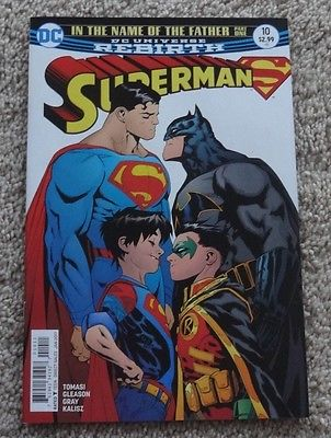 SUPERMAN #10 Cover A First Printing VARIANT - Cool Super Sons Cover - High Grade