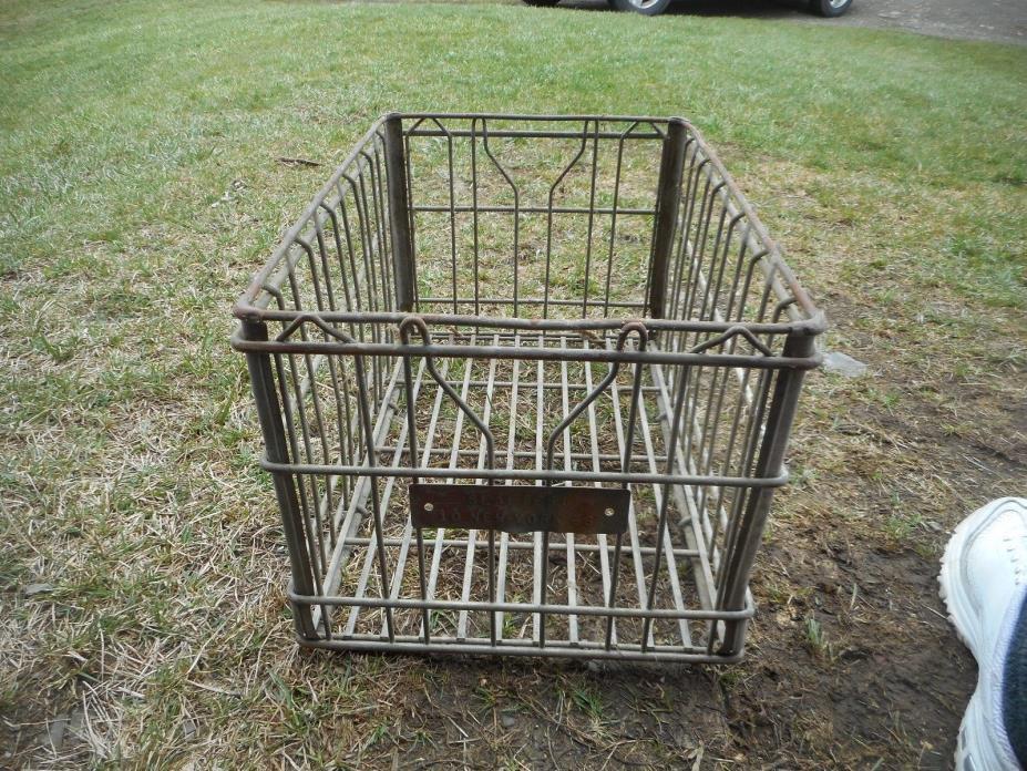 Vintage Metal Milk Crate Sealtest 10 New York 66