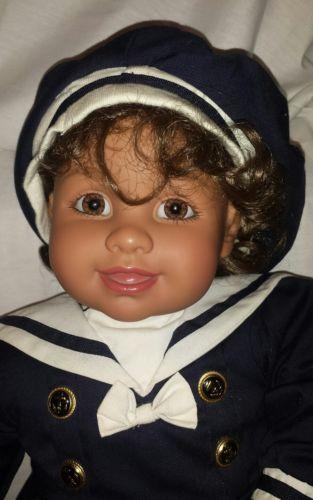 My Twinn Babies 1999 Hispanic Girl navy sailor outfit