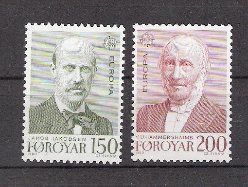 Faroe Islands 1980 Europa Jakobsen & Hammershaimb MNH (SC# 53-54)
