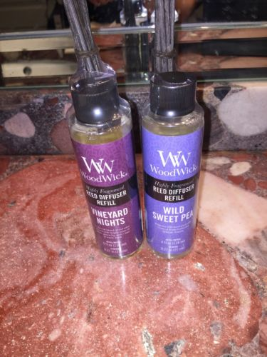 NWT WoodWick Highly Fragranced Reed Diffuser Refill 4oz Scented Sticks Sweet