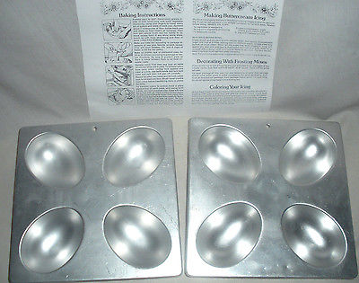 2 WILTON EGG OR FOOTBALL CAKE PANS  2105-9430  w GENERAL INST / RECIPES NICE