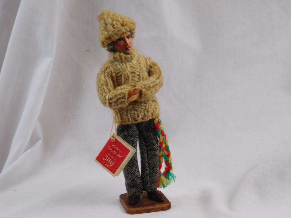 Vintage 1960s-70s Aran Fisherman Irish Dublin Hand-made Doll w/ Tag & Label