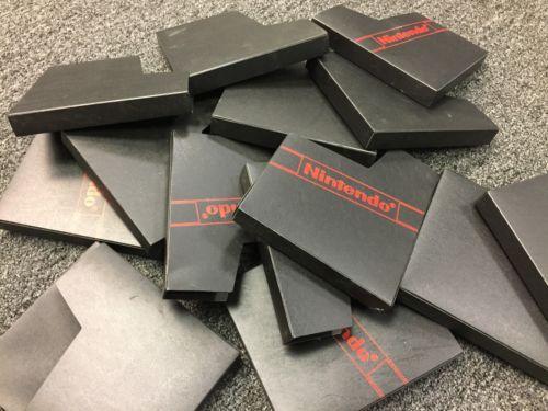 Lot of 100 OEM Nintendo NES Dust Covers Game Cases, NES Black Dust Sleeve