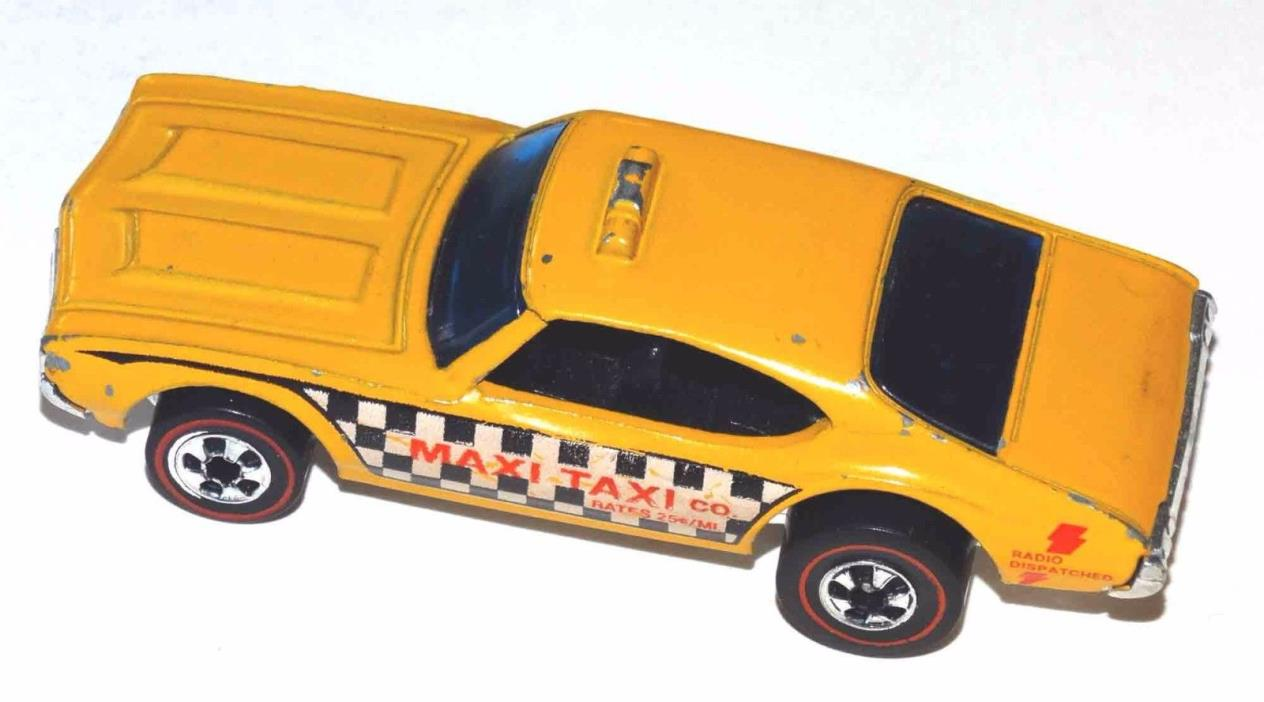 Hot Wheels Redline Maxi Taxi Vintage 1976 Mattel w/Chrome Base Complete CGC