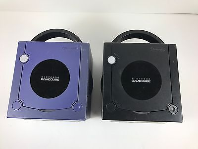 Lot of 2 Broken Nintendo GameCube Console Systems For Parts Or Repair